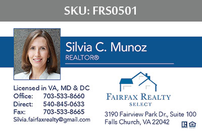Fairfax Realty Select Business Cards - FRS0501