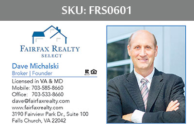 Fairfax Realty Select Business Cards - FRS0601