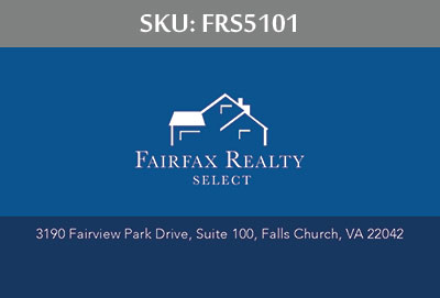Fairfax Realty Select Business Cards - FRS5101