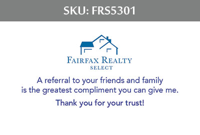 Fairfax Realty Select Business Cards - FRS5301