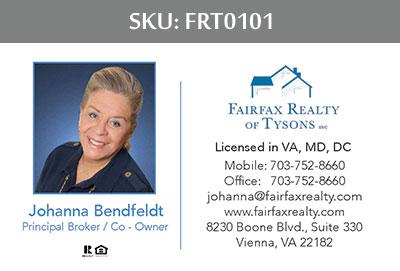 Fairfax Realty Tysons Business Cards - FRT0101