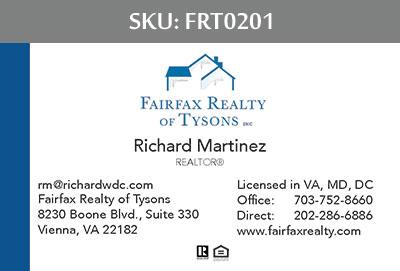 Fairfax Realty Tysons Business Cards - FRT0201