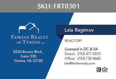 Fairfax Realty Tysons Business Cards - FRT0301