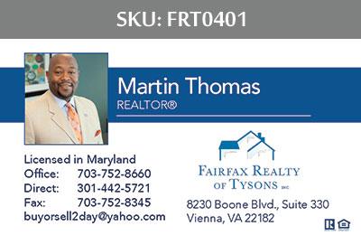 Fairfax Realty Tysons Business Cards - FRT0401