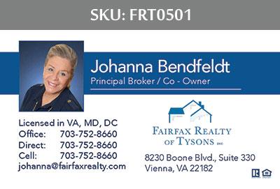 Fairfax Realty Tysons Business Cards - FRT0501