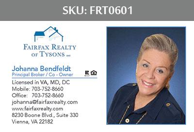 Fairfax Realty Tysons Business Cards - FRT0601