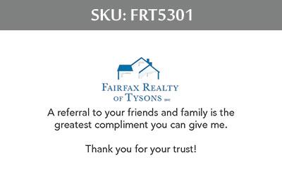 Fairfax Realty Tysons Business Cards - FRT5301