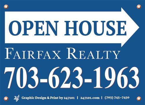 247101.com - Fairfax Realty Yard Signs & Panel Signs