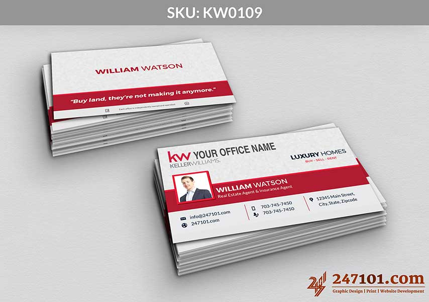 Keller Williams - Business Cards - 247101 - 0109