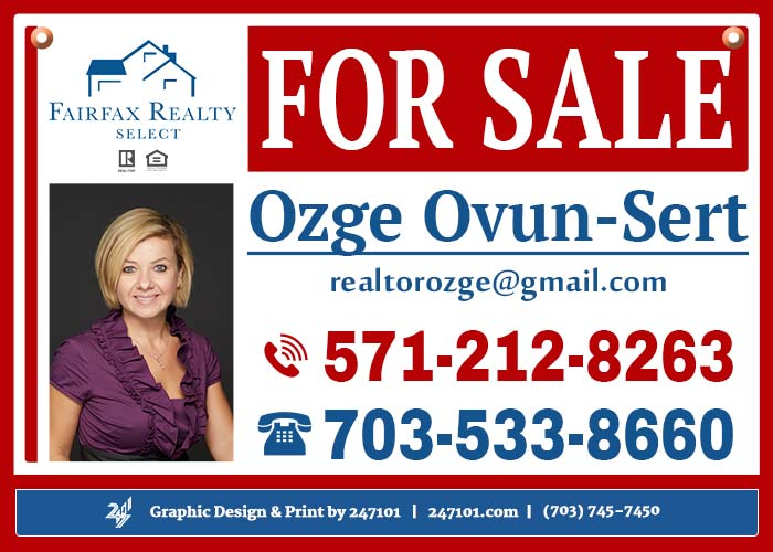 247101.com - Fairfax Realty Yard Signs & Panel Signs