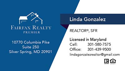 247101.com - Fairfax Realty Business Cards - Linda Gonzalez