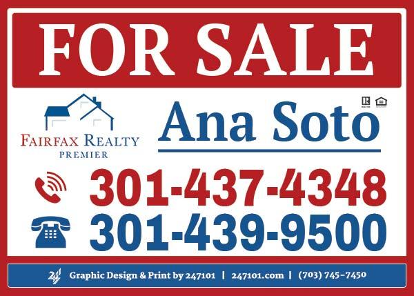 Fairfax Realty - Signs - Ana Soto