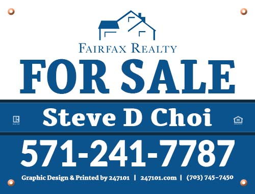 247101.com - Fairfax Realty Yard Sign