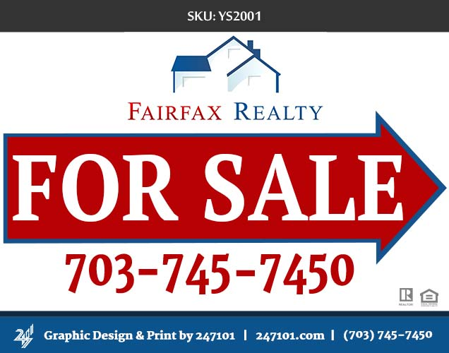 247101.com - Fairfax Realty Yard Signs