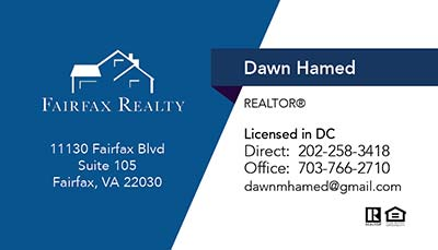 Fairfax Realty - Business Cards - Dawn Hamed