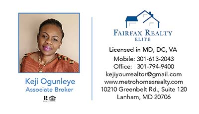 Fairfax Realty - Business Cards - Keji Ogunleye