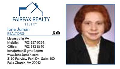 247101.com - Fairfax Realty Business Cards