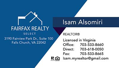 247101.com - Fairfax Realty Business Cards