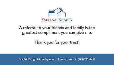 Business Cards - Fairfax Realty
