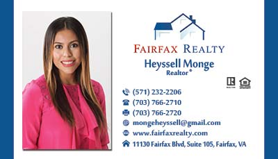 Fairfax Realty Business Cards Heyssell Monge