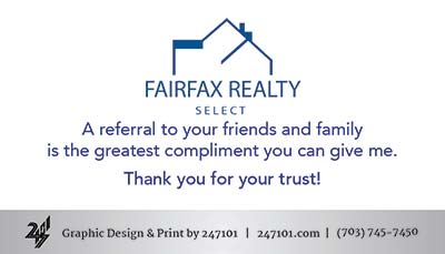 Fairfax Realty - Business Cards