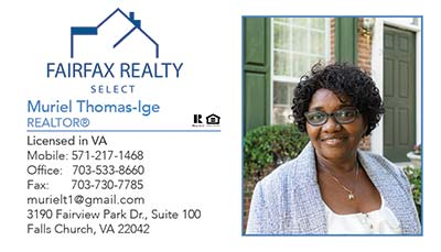 Fairfax Realty - Business Cards - Muriel Thomas-Ige