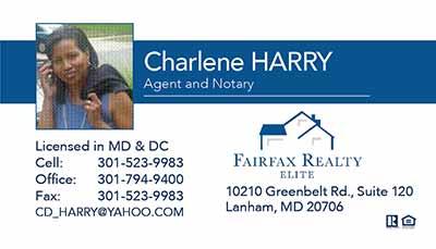 Fairfax Realty - Business Cards - Charlene Harry