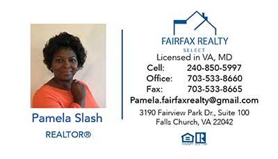 Business Cards Pamela Slash
