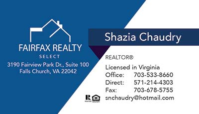 Business Cards - Shazia Chaudry