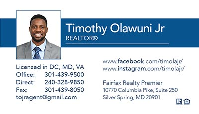 Business Cards Timothy Olawuni Jr