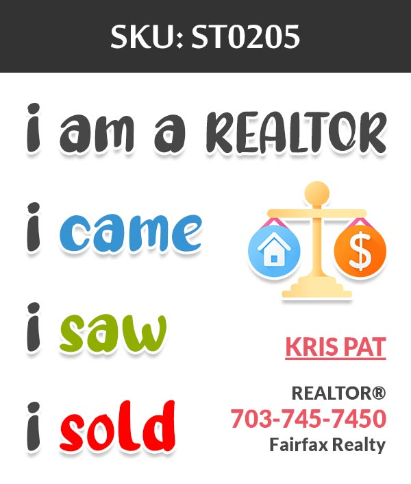 Fairfax Realty - Stickers Labels for Realtors - ST0205