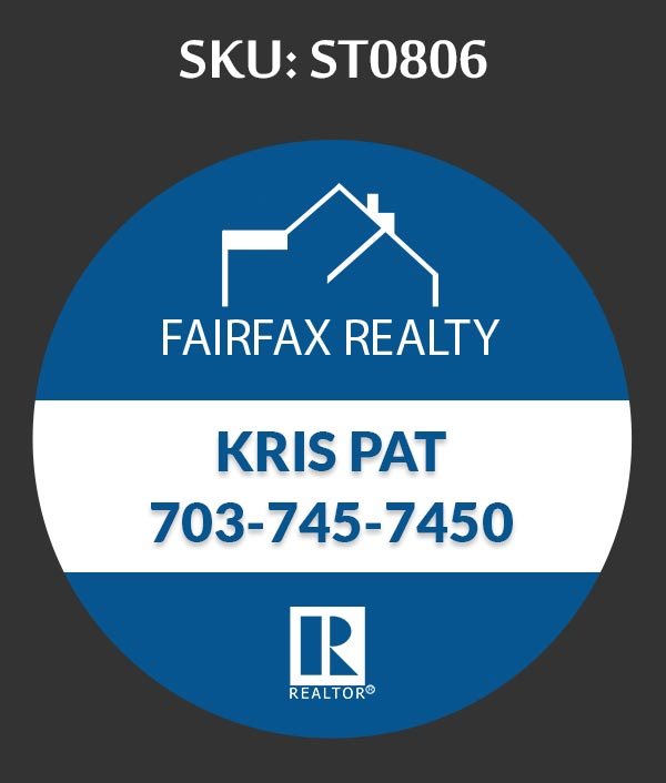Fairfax Realty - Stickers Labels for Realtors - ST0806