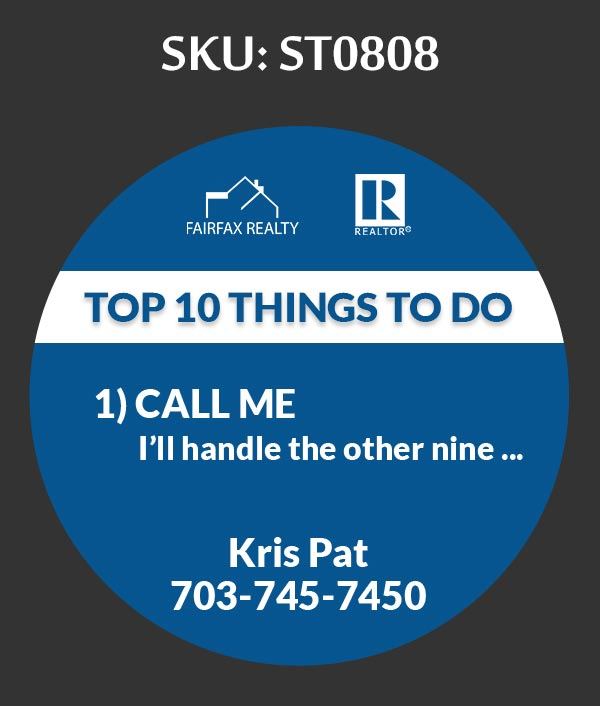 Fairfax Realty - Stickers Labels for Realtors - ST0808