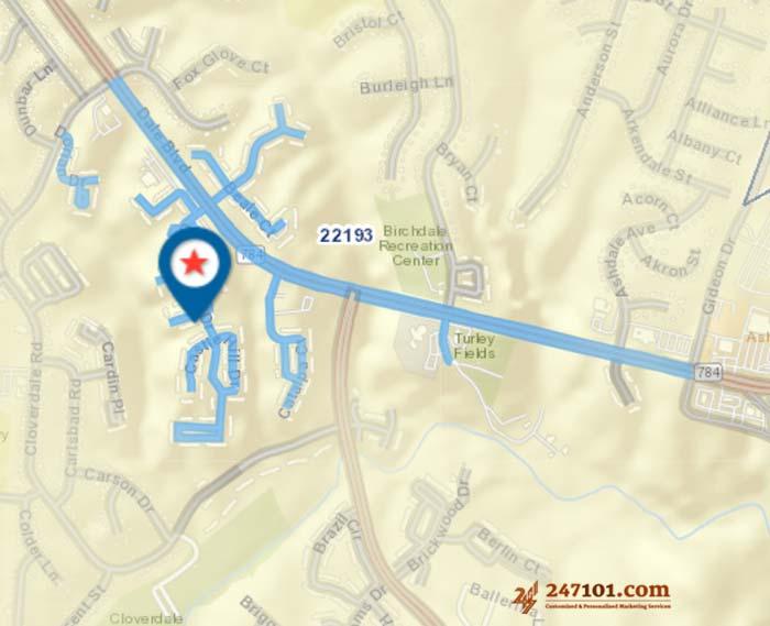 3515 Crag Mews, Woodbridge, VA 22193 - Postcard Mailers