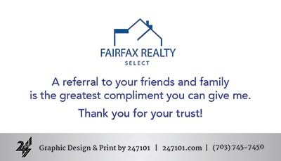 247101.com - Fairfax Realty Business Cards - Otoniel Toni Larios