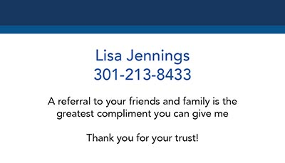 Business Cards - Lisa Jennings