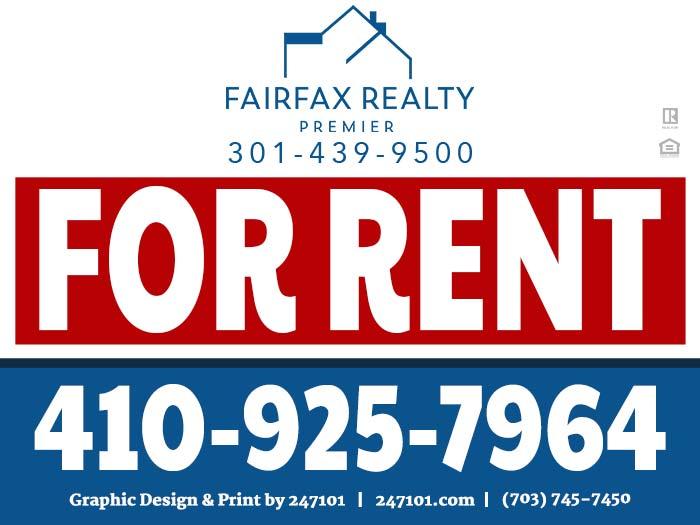Fairfax Realty - Yard Signs - Fatmah Alhija