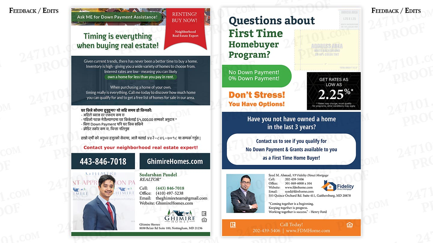 247101 - Ghimire Homes - Postcard Mailers