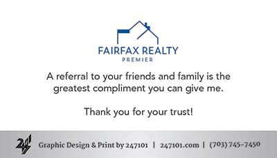 Business Cards - Fairfax Realty Premier - Back