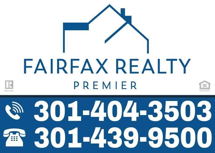 Fairfax Realty Yard Sign - Adrian Knights
