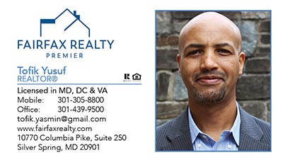 Fairfax Realty - Business Cards - Tofik Yusuf