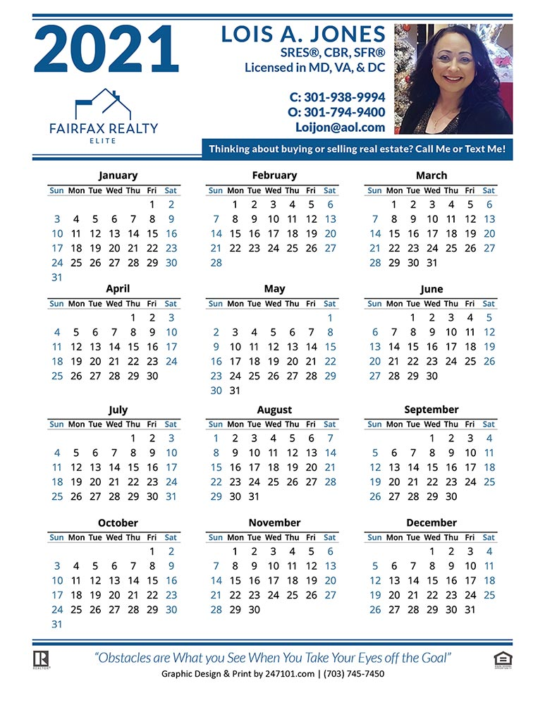 Lois A Jones - Calendar 01