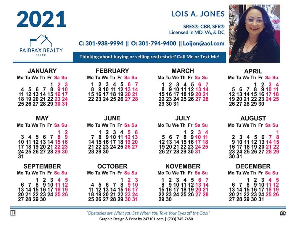 Lois A Jones - Calendar 02