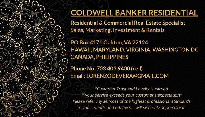 Business Cards - Lorenzo De Vera - Back