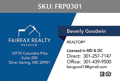 Fairfax Realty Premier Business Cards by 247101