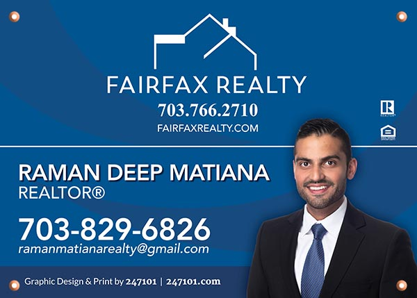 Fairfax Realty Signs - Raman Deep Matiana