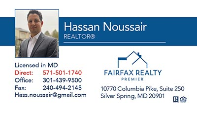 Business Cards for Fairfax Realty Premier - Hassan Noussair
