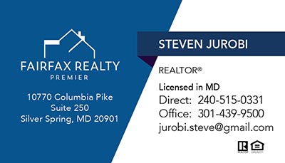 Business Cards for Fairfax Realty Premier - Steven Jurobi