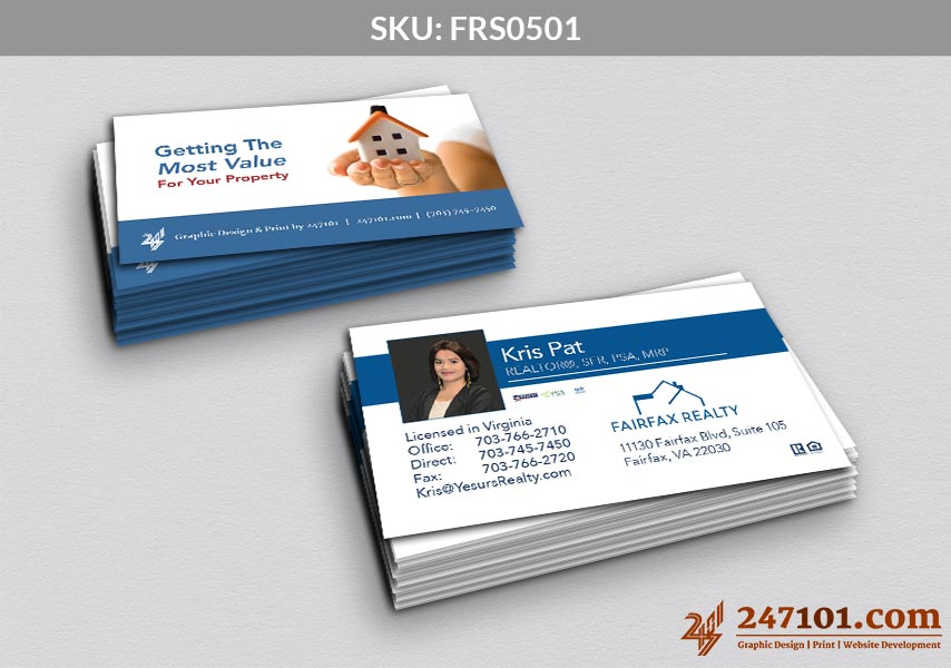 Fairfax Realty Business Cards (SKU: FRS0501)