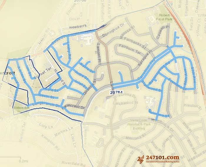 Mailing Route - Janet Liriano - New Carrollton, Maryland